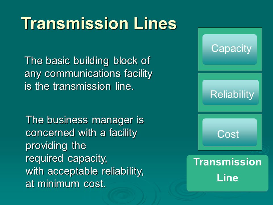 Transmission Lines Capacity