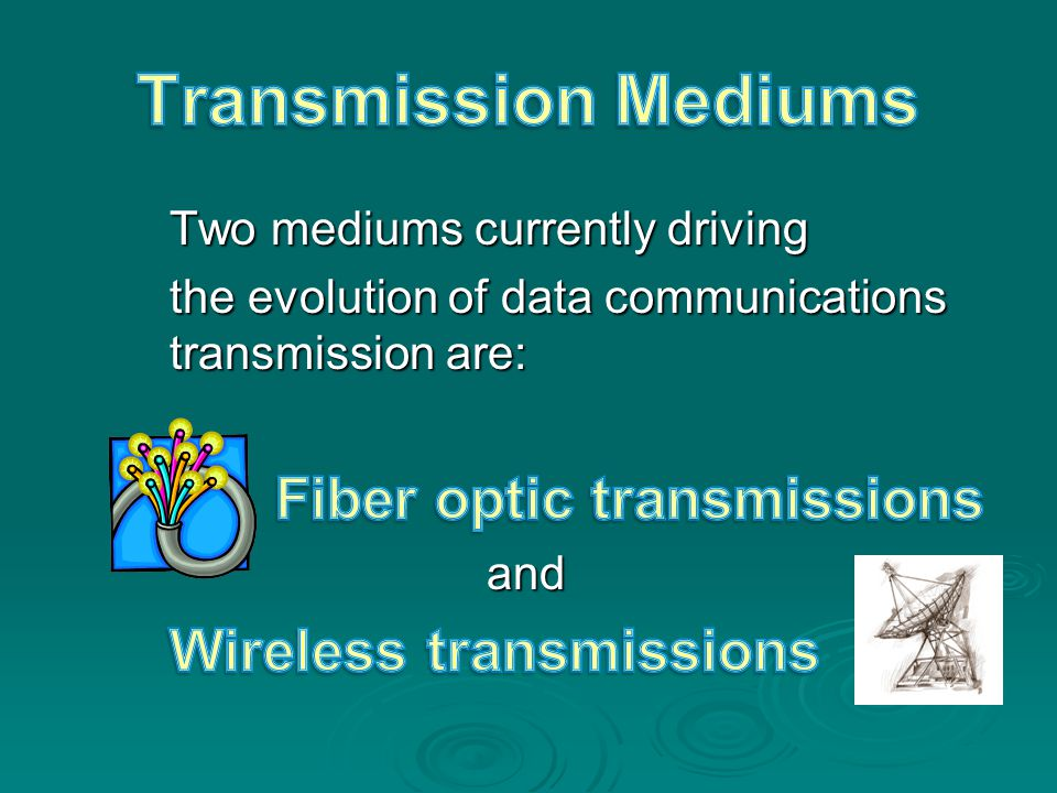Transmission Mediums Wireless transmissions