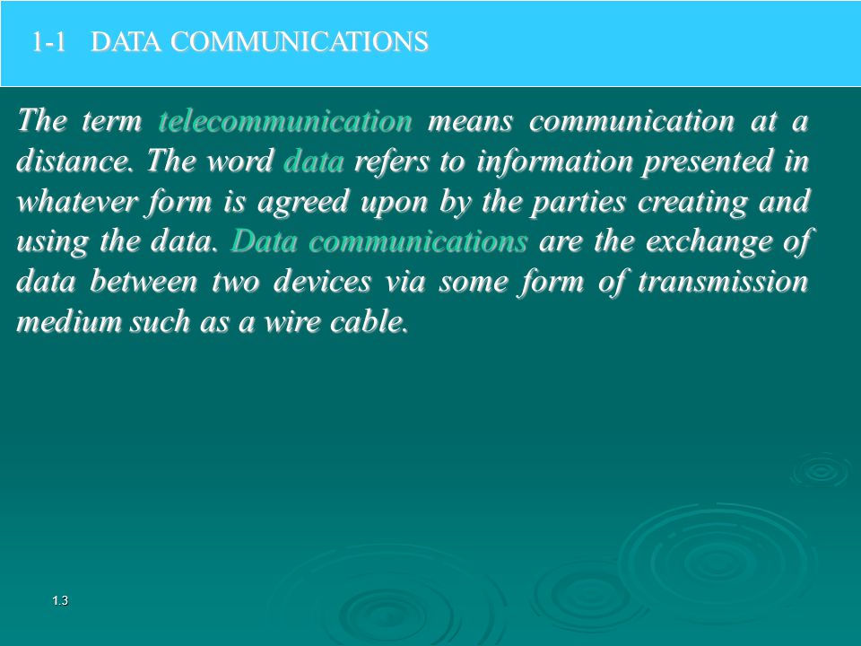 1-1 DATA COMMUNICATIONS