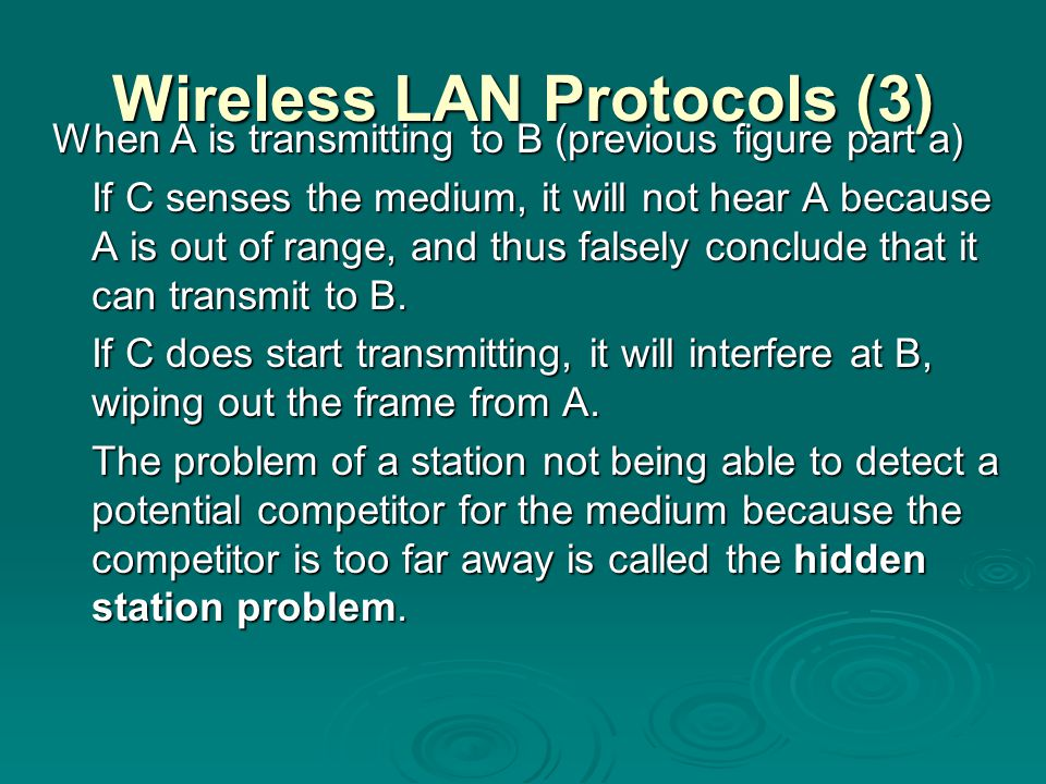 Wireless LAN Protocols (3)