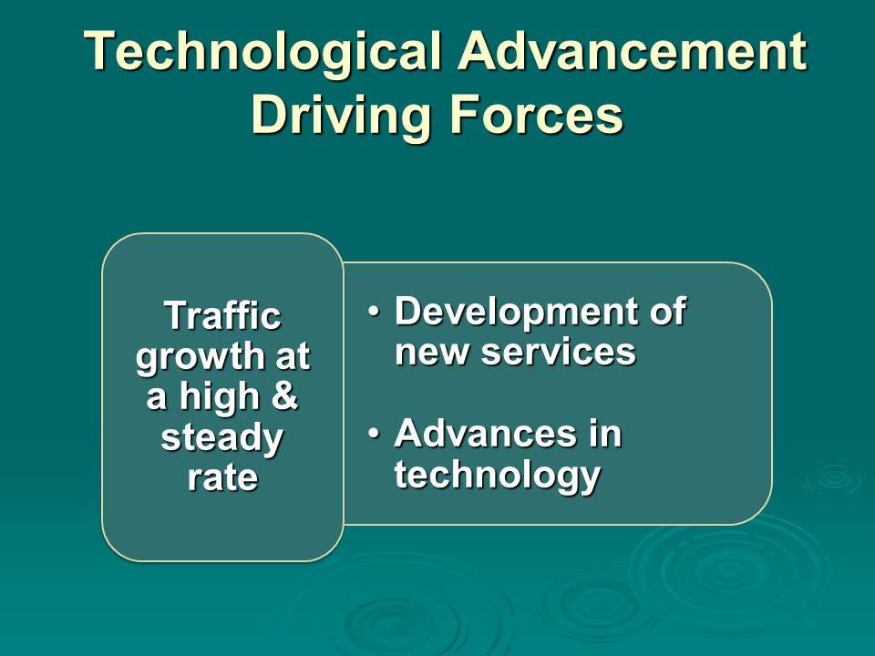Technological Advancement Driving Forces