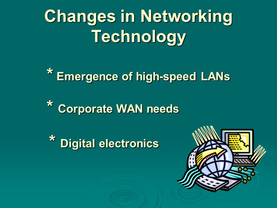 Changes in Networking Technology