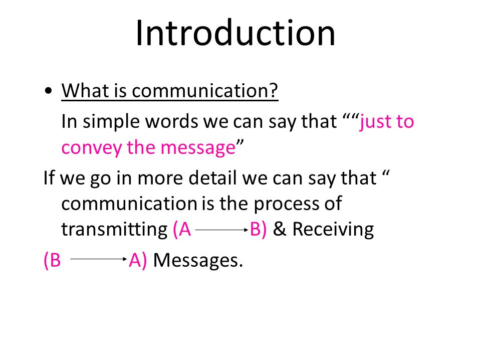 Introduction What is communication
