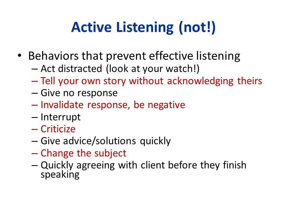 Active Listening (not!)