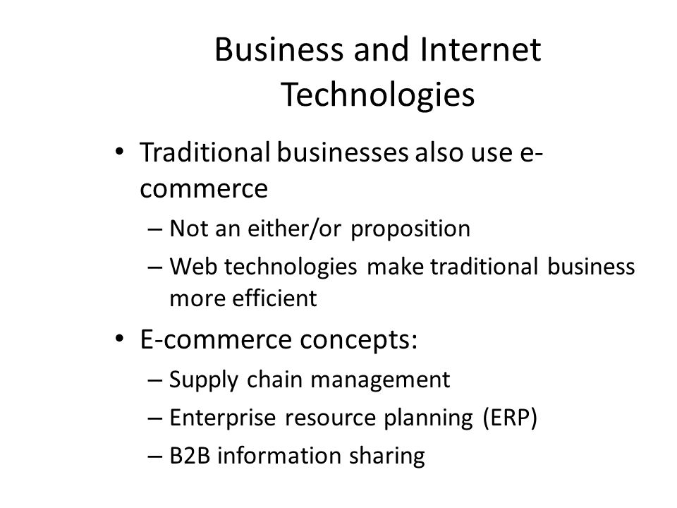Business and Internet Technologies