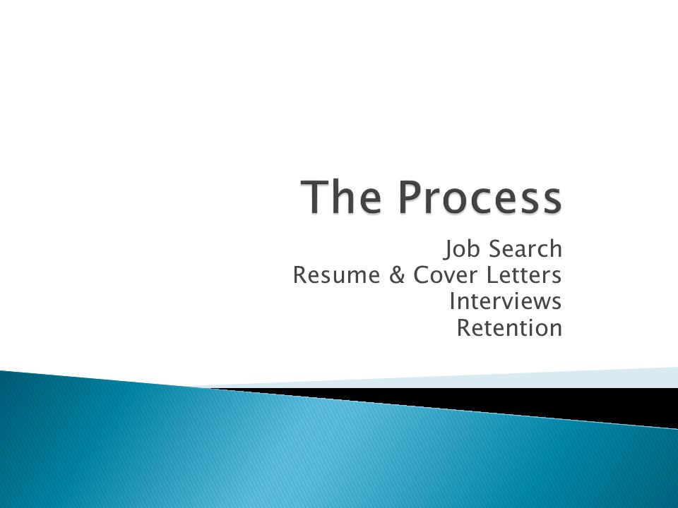 Job Search Resume & Cover Letters Interviews Retention
