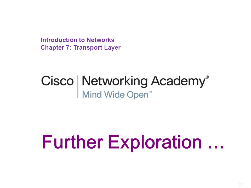 Further Exploration … Introduction to Networks