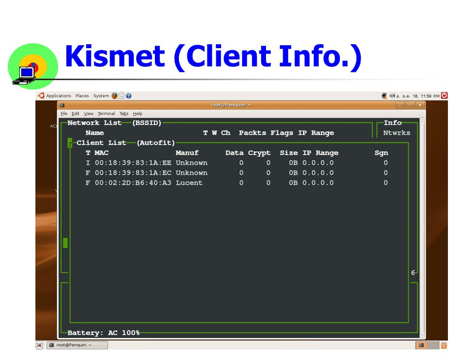 Kismet (Client Info.)