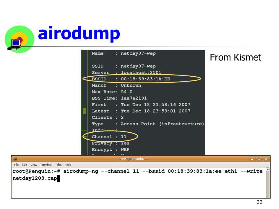 airodump From Kismet