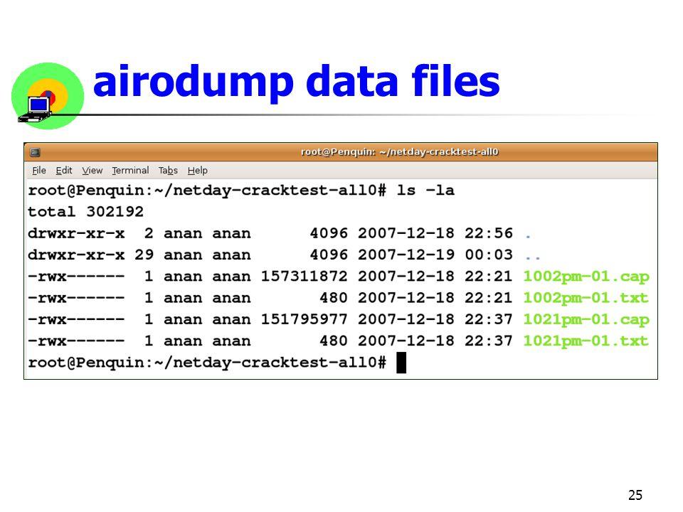 airodump data files