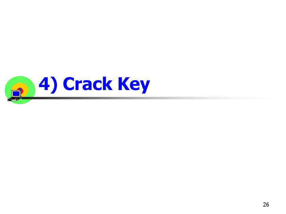 4) Crack Key