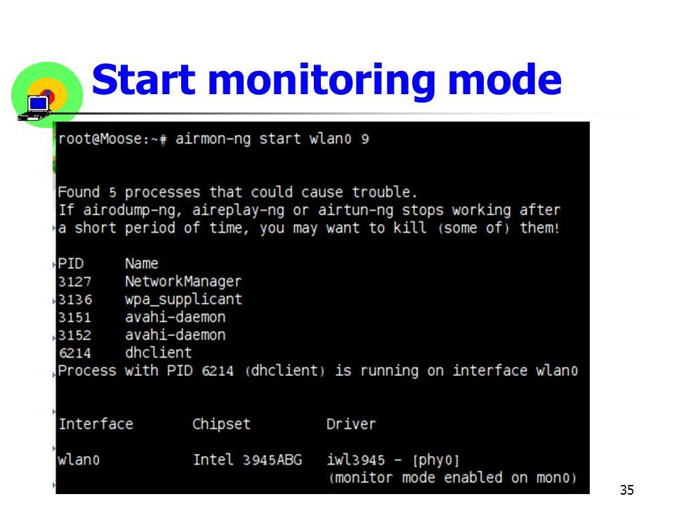 Start monitoring mode