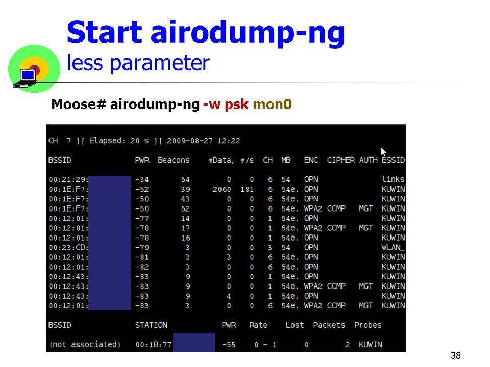 Start airodump-ng less parameter