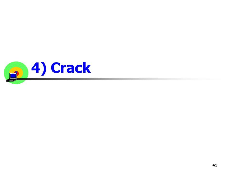 4) Crack