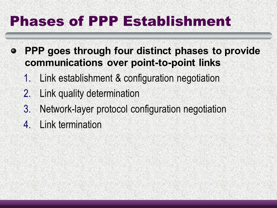 Phases of PPP Establishment