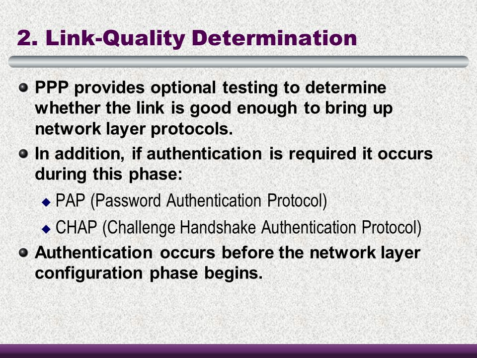2. Link-Quality Determination
