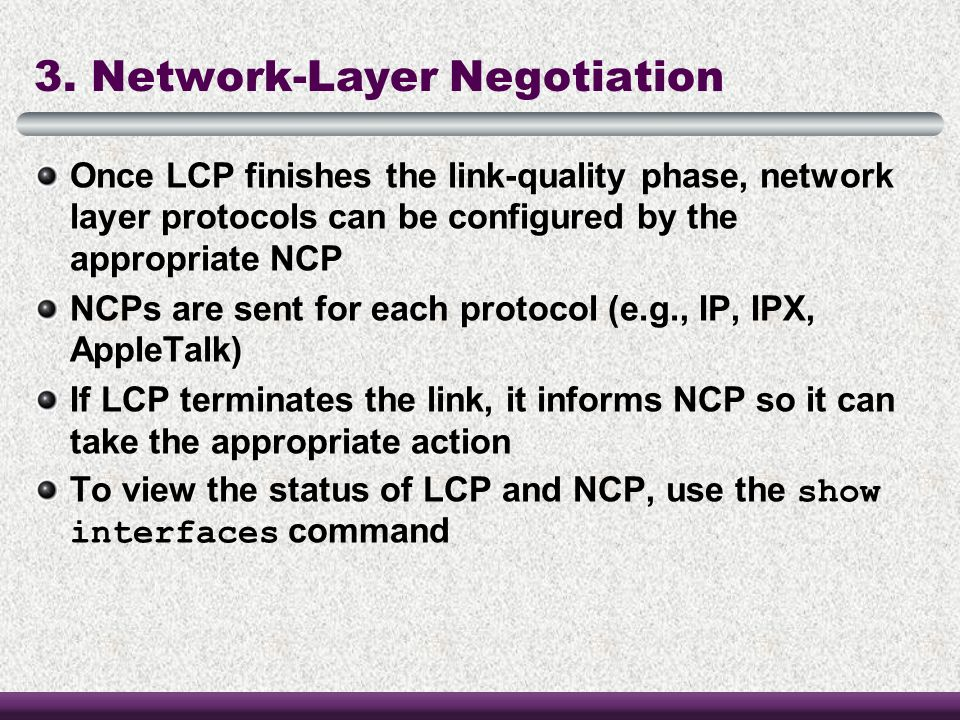 3. Network-Layer Negotiation