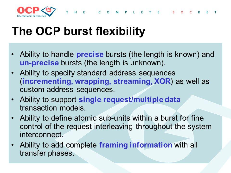 The OCP burst flexibility