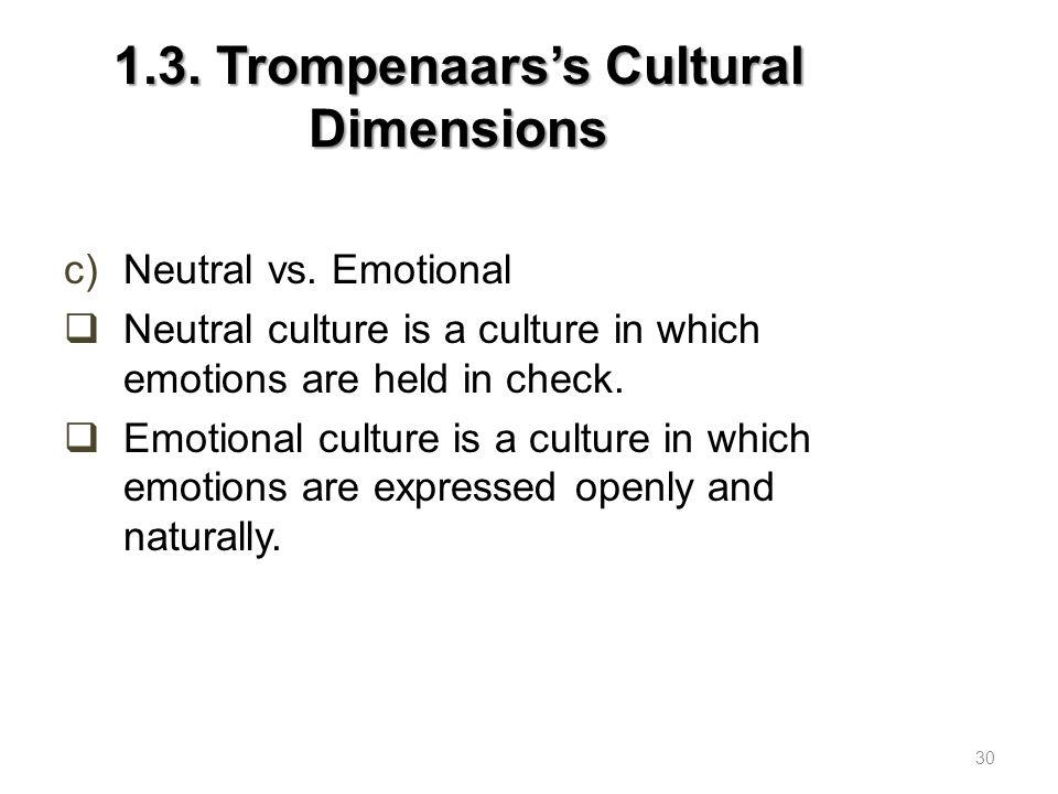 1.3. Trompenaars's Cultural Dimensions
