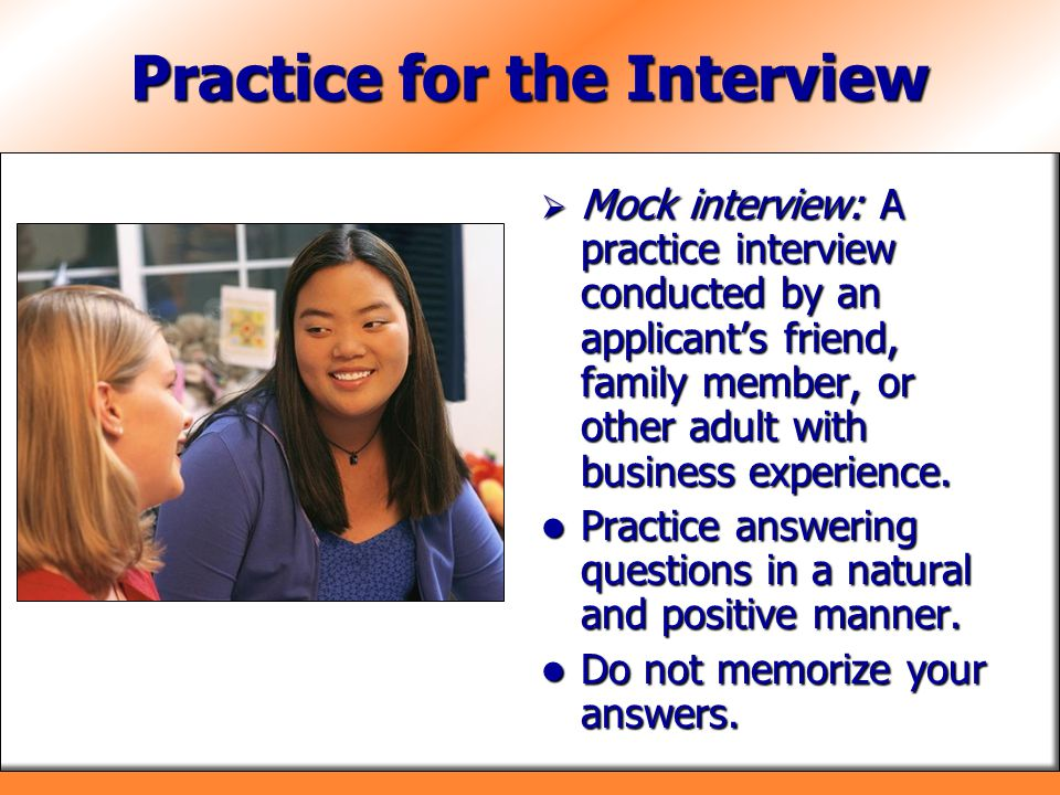 Practice for the Interview