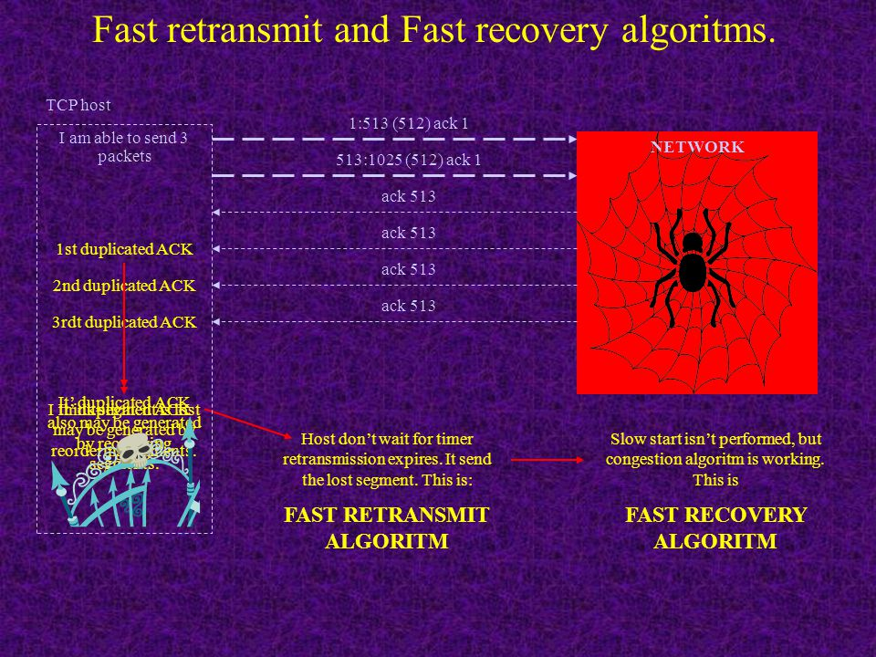 Fast retransmit and Fast recovery algoritms.