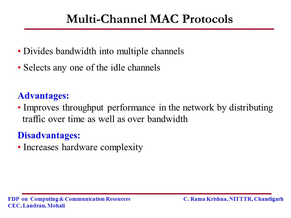 Multi-Channel MAC Protocols