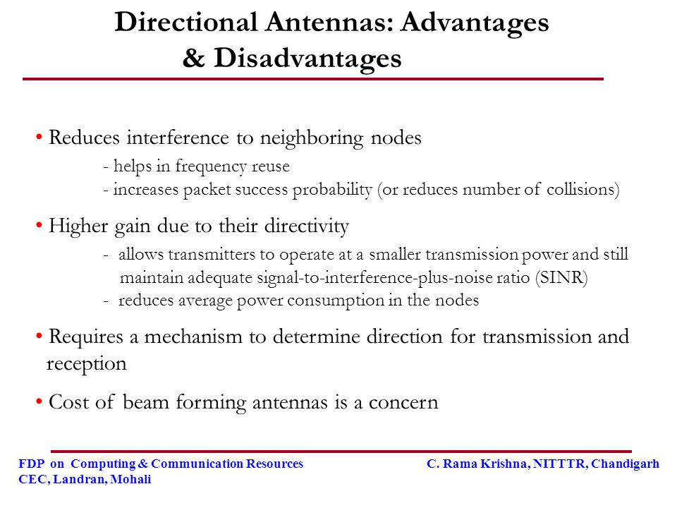 Directional Antennas: Advantages & Disadvantages