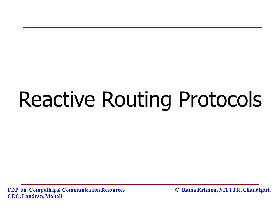 Reactive Routing Protocols