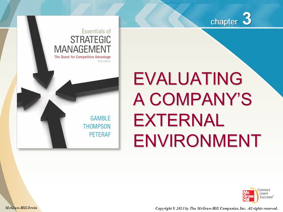 EVALUATING A COMPANY'S EXTERNAL ENVIRONMENT