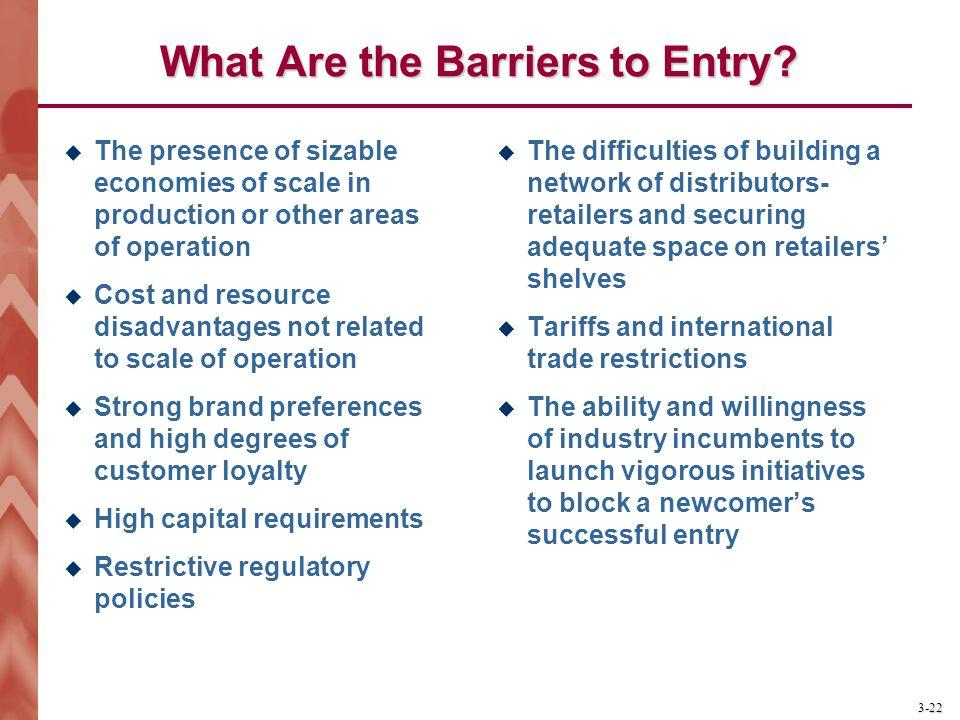 What Are the Barriers to Entry