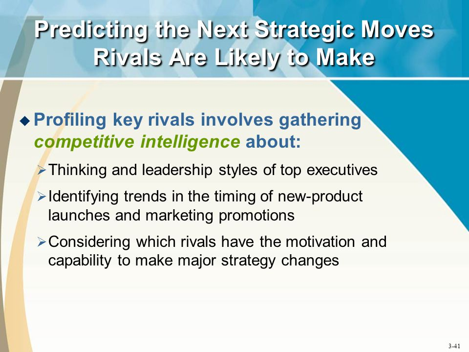 Predicting the Next Strategic Moves Rivals Are Likely to Make