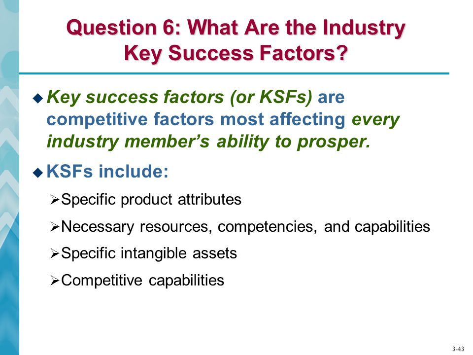 Question 6: What Are the Industry Key Success Factors