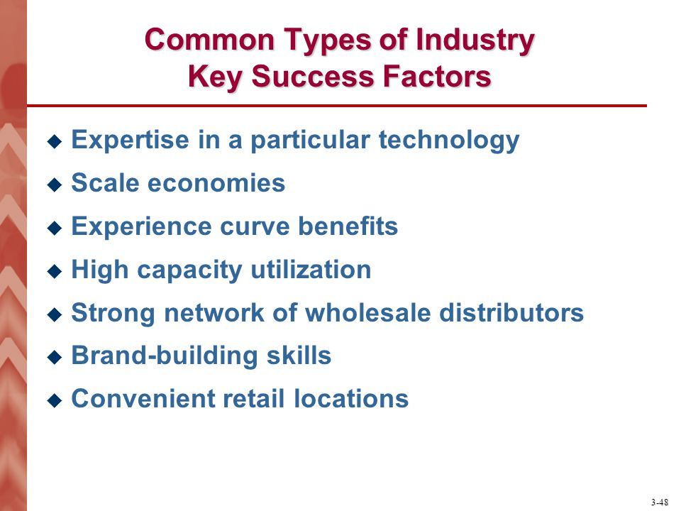 what are the driving forces and the key success factors in jewellery industry The idea is to look at each of these factors and determine the degree to which   porter's five forces defined whether an industry is attractive or.