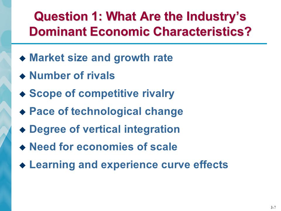Question 1: What Are the Industry's Dominant Economic Characteristics