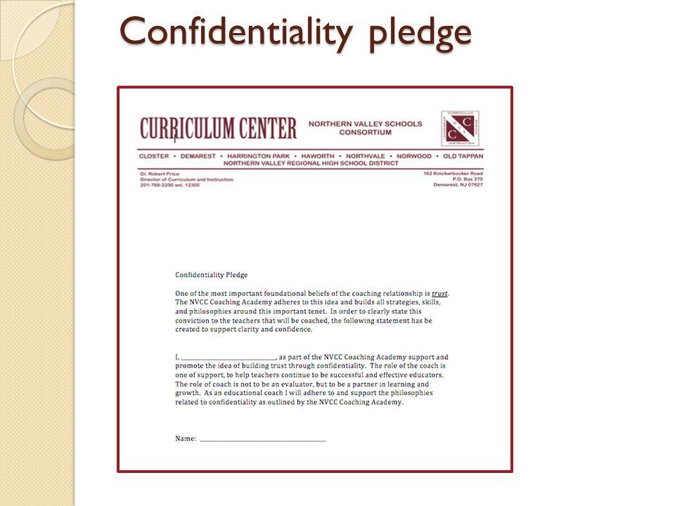 Confidentiality pledge