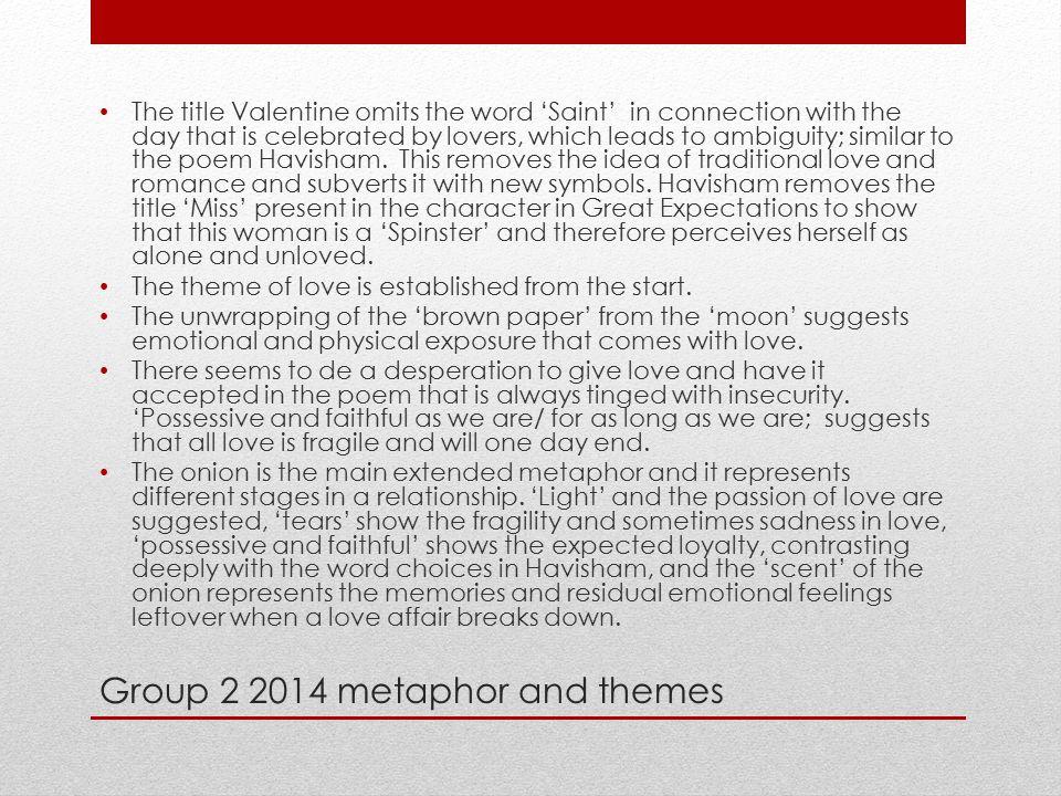 Group 2 2014 metaphor and themes