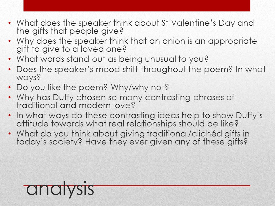 What does the speaker think about St Valentine's Day and the gifts that people give