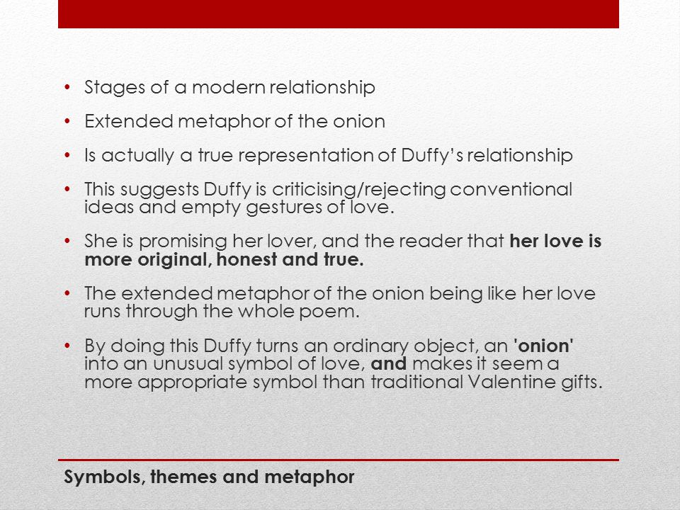 Symbols, themes and metaphor