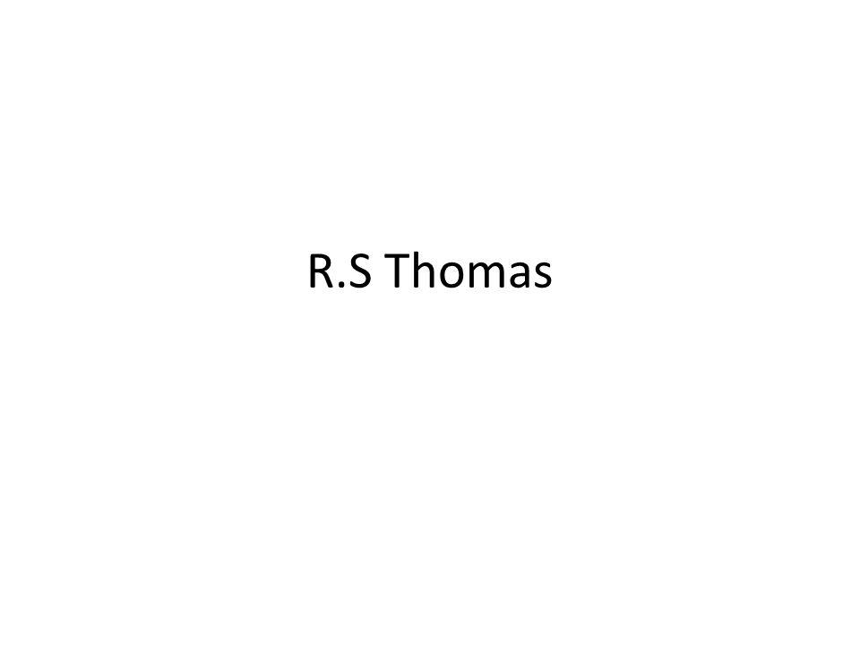 R.S Thomas