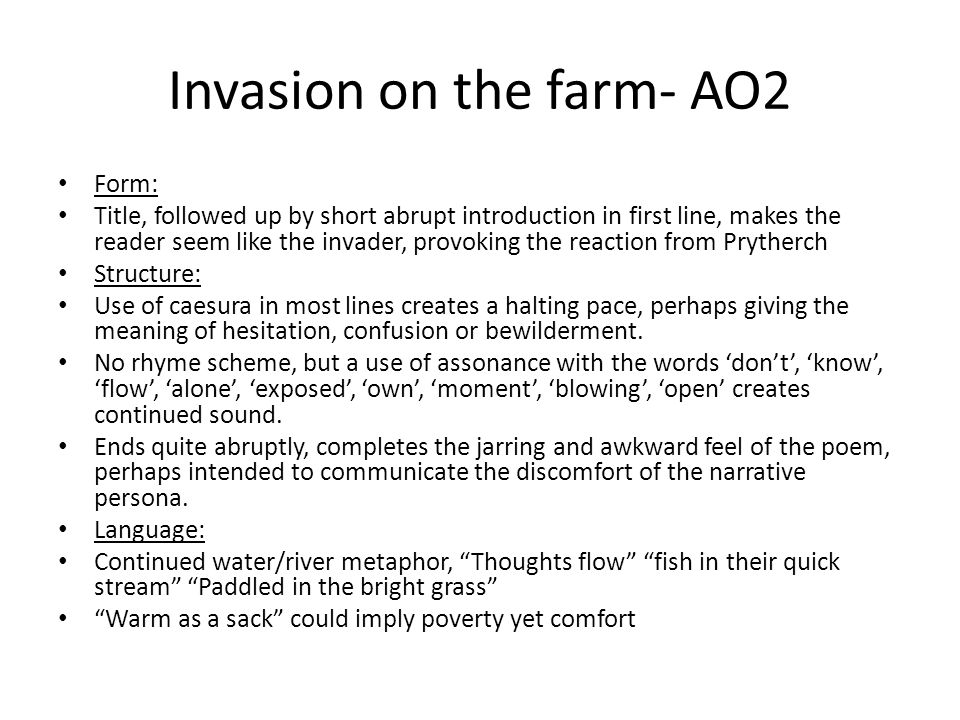 Invasion on the farm- AO2