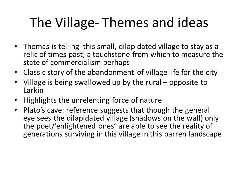 The Village- Themes and ideas
