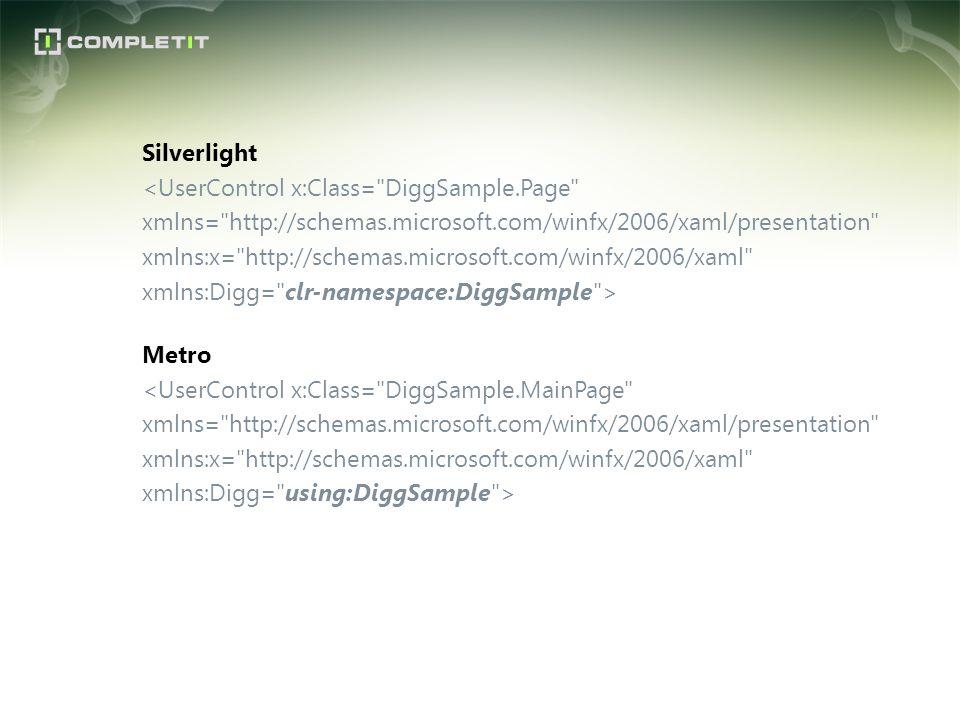 Silverlight <UserControl x:Class= DiggSample