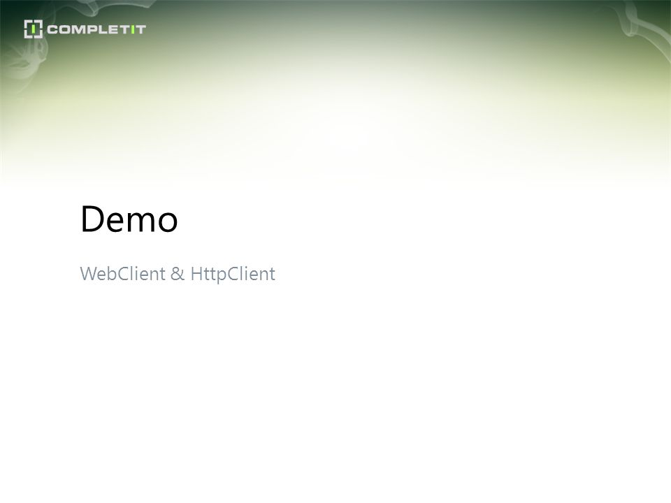 Demo WebClient & HttpClient