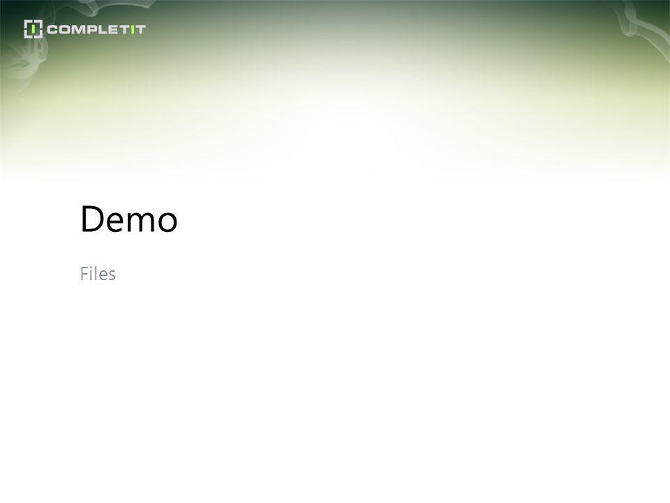 Demo Files