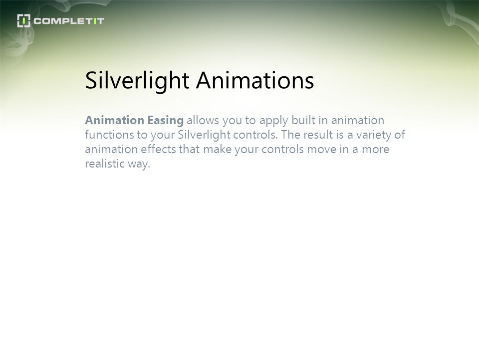 Silverlight Animations