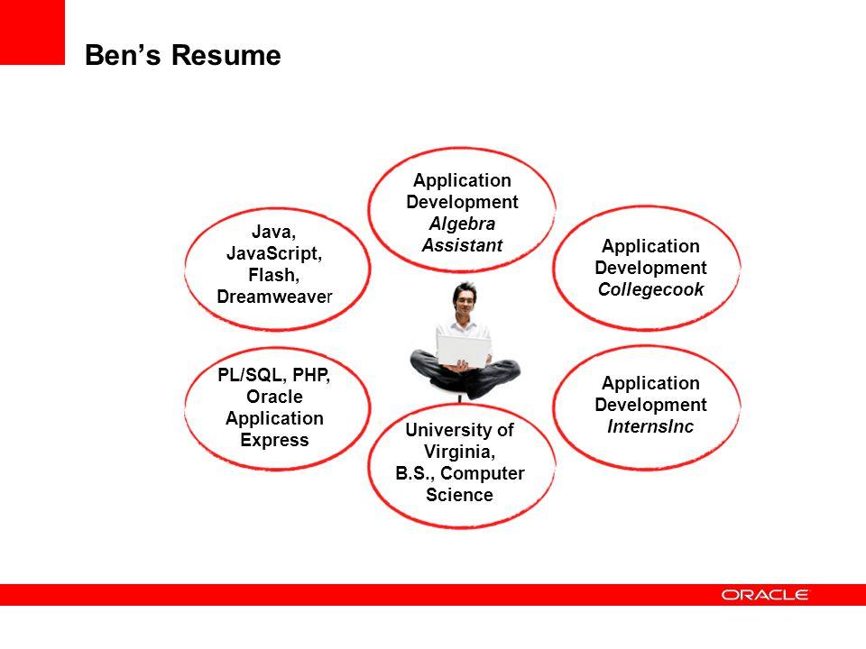 Ben's Resume Application Development Algebra Assistant