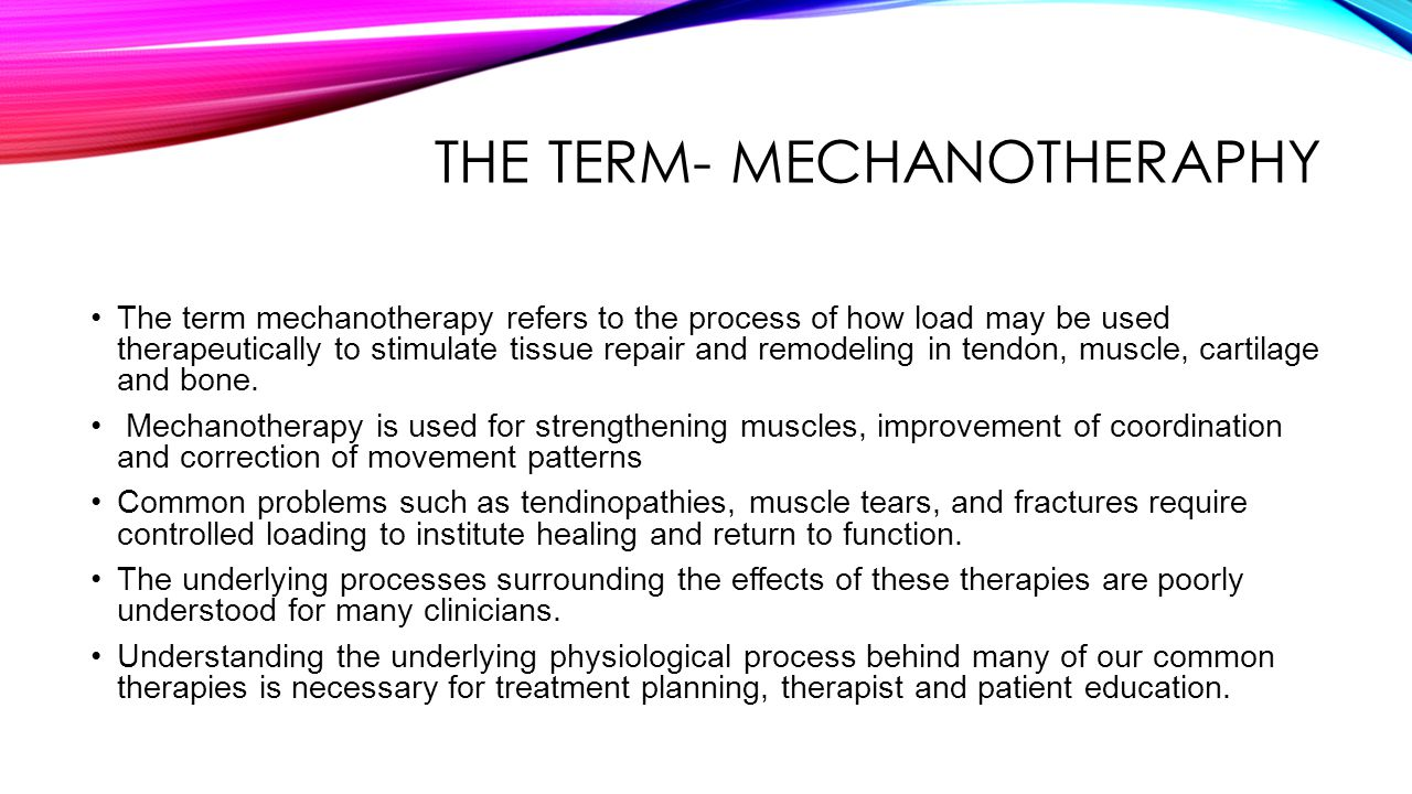 THE TERM- MECHANOTHERAPHY