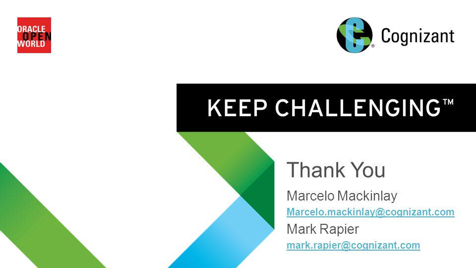 Thank You Marcelo Mackinlay Mark Rapier