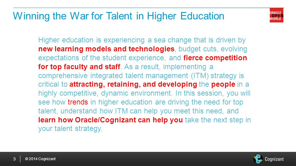 Winning the War for Talent in Higher Education