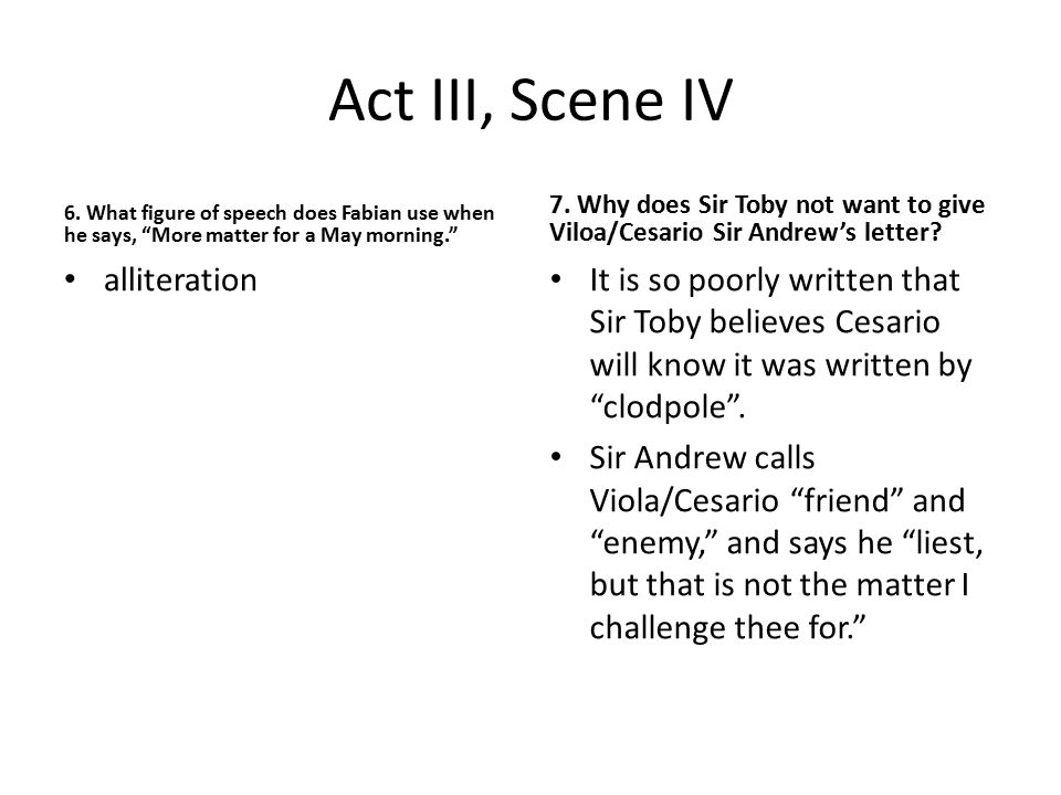 Act III, Scene IV alliteration